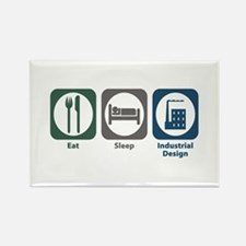 Eat Sleep Industrial Design Rectangle Magnet