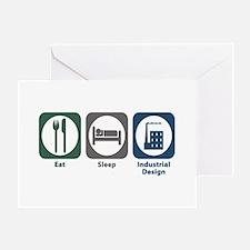 Eat Sleep Industrial Design Greeting Card