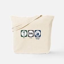Eat Sleep Industrial Design Tote Bag