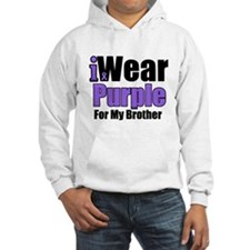 I Wear Purple For My Brother Hoodie