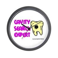 Dental Cavity Search Expert Wall Clock