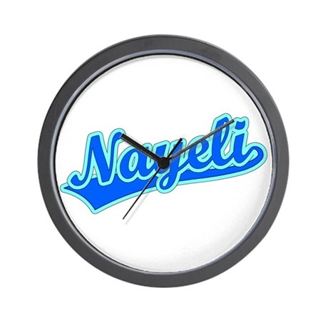 Retro Nayeli (Blue) Wall Clock