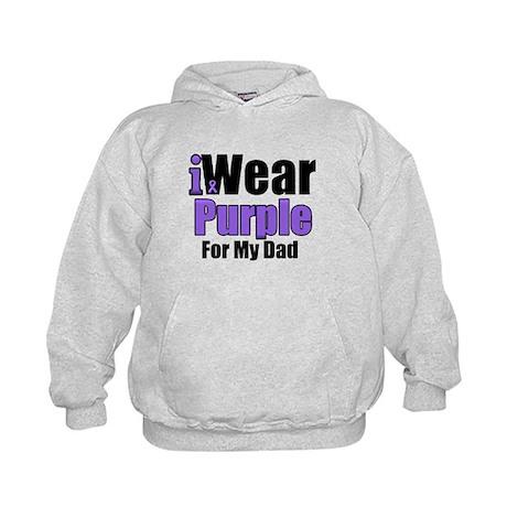 I Wear Purple For My Dad Kids Hoodie