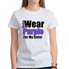 I Wear Purple For My Sister Tee