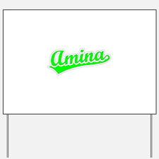 Retro Amina (Green) Yard Sign