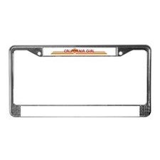 Cute California girl License Plate Frame