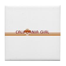 Cute California girl Tile Coaster