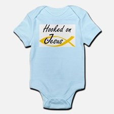 Hooked on Jesus  Infant Creeper