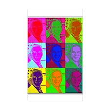"Psychedelic BUSH (à la Warhol) 3 x 5"" Decal"