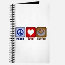 Peace Love and Coffee Tiles Journal
