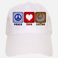 Peace Love and Coffee Tiles Baseball Baseball Cap