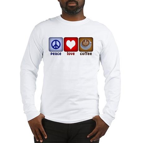 Peace Love and Coffee Tiles Long Sleeve T-Shirt