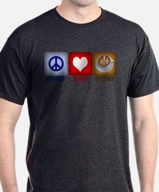 Peace Love and Coffee Tiles T-Shirt