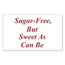 Sugar-Free Rectangle Decal