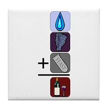 Wine Math Tile Coaster