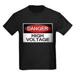 Danger! High Voltage Kids Dark T-Shirt