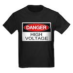 Danger! High Voltage Kids Dark T-Shirt