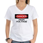 Danger! High Voltage Women's V-Neck T-Shirt