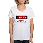 Danger! High Voltage Women's V-Neck T-Shirt