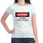 Danger! High Voltage Jr. Ringer T-Shirt