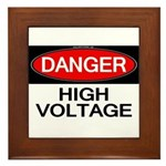 Danger! High Voltage Framed Tile