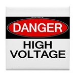 Danger! High Voltage Tile Coaster