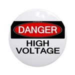 Danger! High Voltage Ornament (Round)
