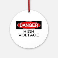 Danger! High Voltage Ornament (Round)