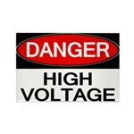 Danger! High Voltage Rectangle Magnet (10 pack)