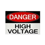 Danger! High Voltage Rectangle Magnet (100 pack)