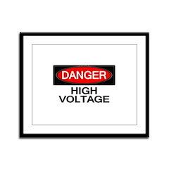 Danger! High Voltage Framed Panel Print