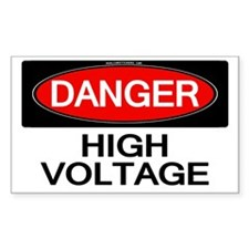 Danger! High Voltage Rectangle Decal