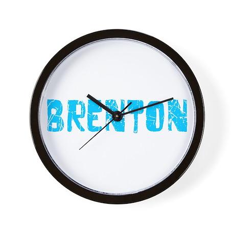 Brenton Faded (Blue) Wall Clock