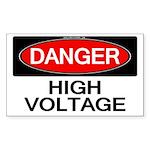 Danger! High Voltage Rectangle Sticker 10 pk)