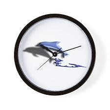 Dolphin Surf Fantasy Wall Clock