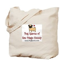 Pug Rescue of San Diego Count Tote Bag