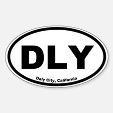 Daly City, California Oval Decal
