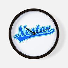 Retro Nestor (Blue) Wall Clock