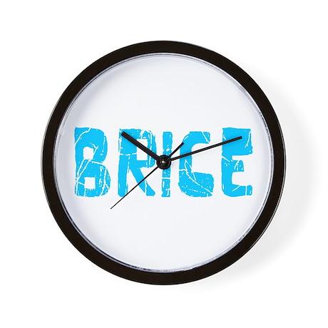 Brice Faded (Blue) Wall Clock