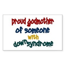 Proud Godmother....2 (DS) Rectangle Decal