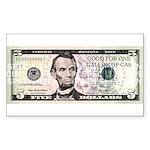 $5. a Gallon Gas Rectangle Sticker 10 pk)