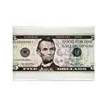 $5. a Gallon Gas Rectangle Magnet (100 pack)