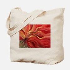Flaming Flower Tote Bag