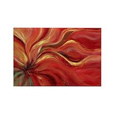 Flaming Flower Rectangle Magnet