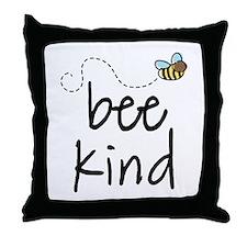 Be Kind Garden Bee Throw Pillow