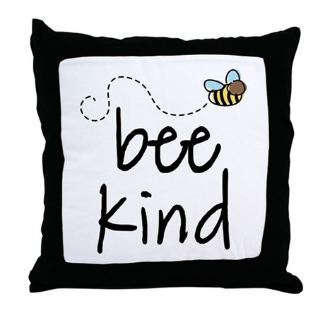Be Kind Garden Bee Throw Pillow