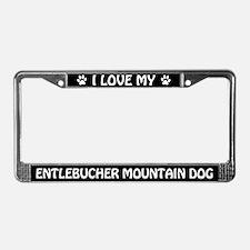 I Love My Entlebucher Mountain Dog License Frame