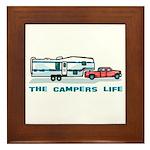 The campers life Framed Tile