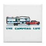 The campers life Tile Coaster