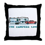 The campers life Throw Pillow